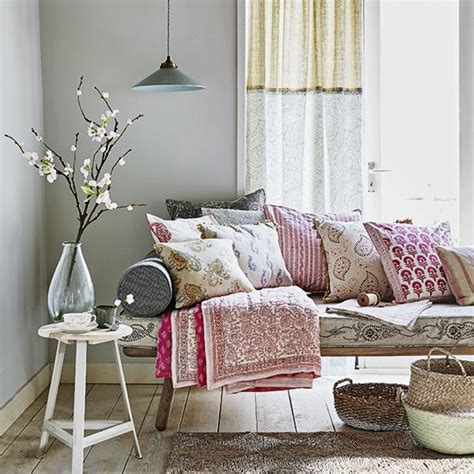 living room cushions uk living room with bench and paisley cushions and throws