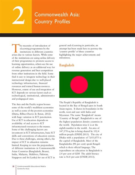 Commonwealth Mba Open Bangladesh by Elearning In Commonwealth Asia 2013
