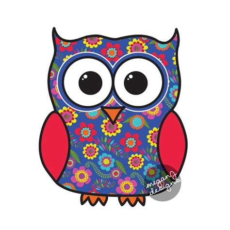 Auto Sticker Eule by Blue Floral Owl Car Decal Sticker Colorful Owl Bumper