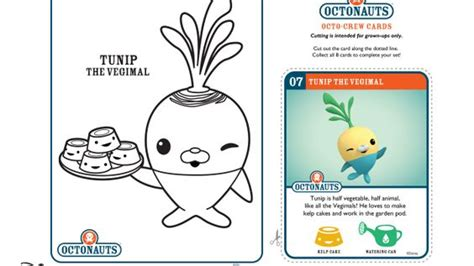 octonauts coloring pages disney jr tunip the vegimal disney junior octonauts