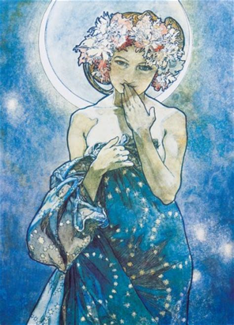 Home Decor Sticks alphonse mucha the moon 1902 2 parts adhesive photo