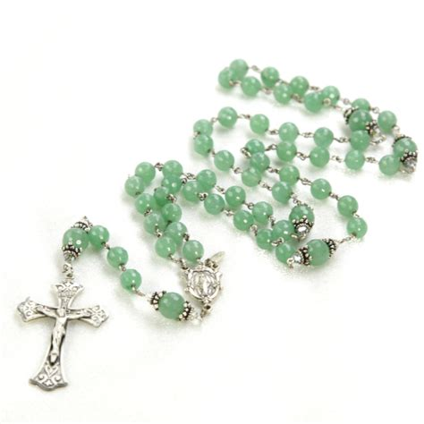 Handmade Rosaries For Sale - green aventurine rosary rosaries and chaplets by sue