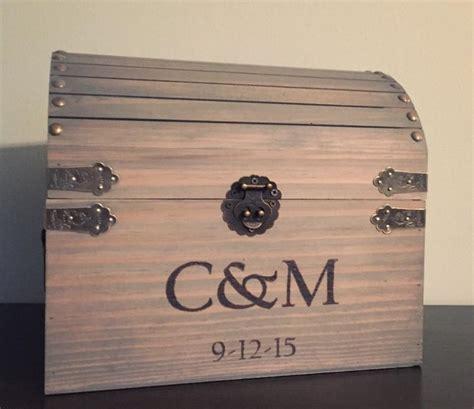 Wedding Card Chest by Custom Treasure Chest Wedding Card Box Rustic Wedding Box