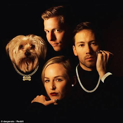 Row Records Portrait Trio Recreates Row Records Image For Card Daily Mail