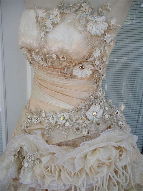 Wedding Dress Handmade - reserved for handmade wedding dress mini plus
