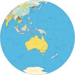 globe l oceania pacific islands map and globe