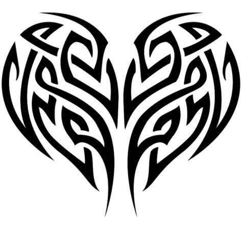 tribal pattern heart 20 beautiful tribal heart tattoos only tribal