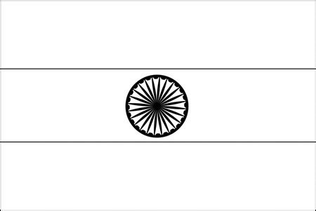 coloring page india flag blank flag of india for coloring flags pinterest