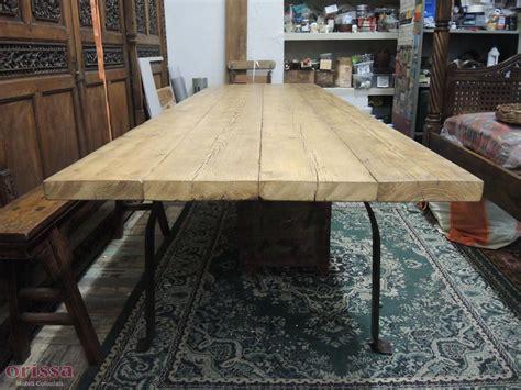 tavoli rustici in legno massello tavolo assi legno massello gamba u cx026 orissa