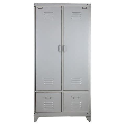 metal armoire 74 metal locker style wardrobes uk industrial style