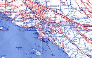 Los Angeles Earthquake Map by Los Angeles Fault Map