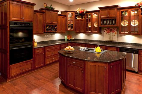 in stock kitchen cabinets cherry wood cabinets your go to guide in stock kitchens
