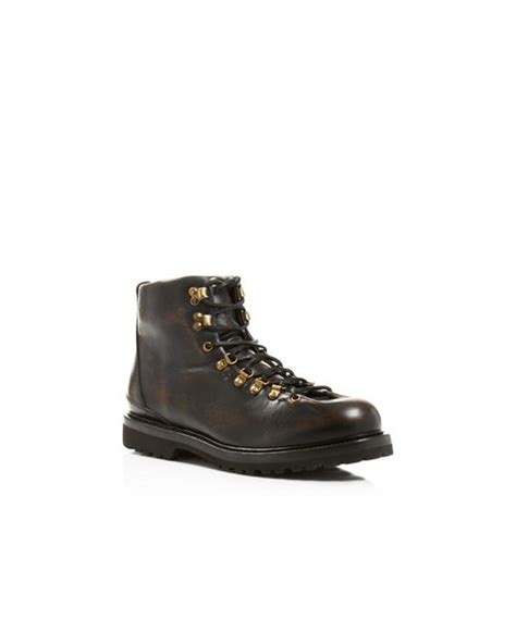 buttero canalone black leather hiking boots in black lyst