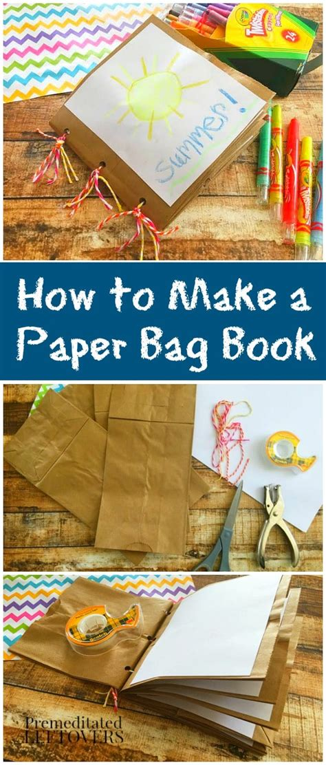 how to make a book with pictures how to make a paper bag book for