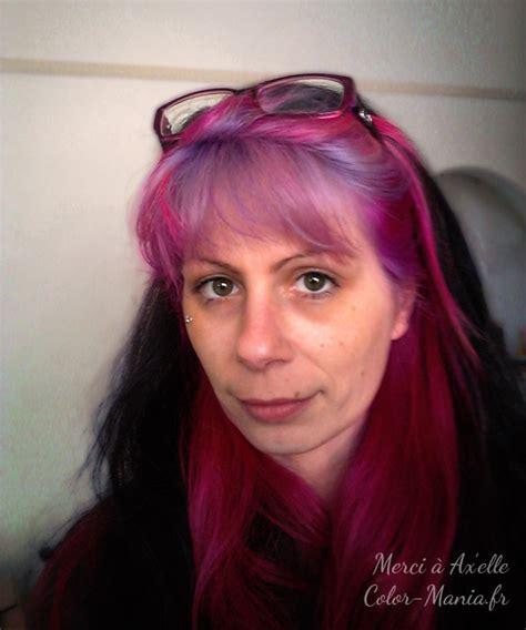 pin cheveux noir et une couleur violet rose au devant pelautscom on coloration cheveux semi permanente violet lilas color mania