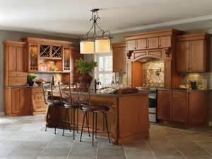 Cabbott cherry macarron kitchen by thomasville cabinetry featuring