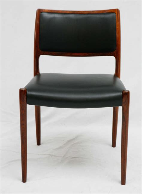 Moller Dining Chairs Set Of 6 Rosewood Niels Moller Dining Chairs For Sale At 1stdibs