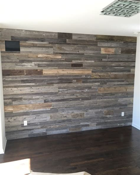 reclaimed wood accent wall diy reclaimed wood accent wall grey shades mixed widths