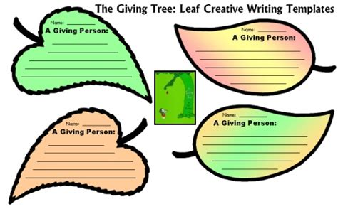 leaf shaped writing paper the giving tree lesson plans shel silverstein