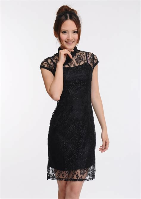 Sale Dress Import 6392 Black buy new februari collection cheongsam import 100