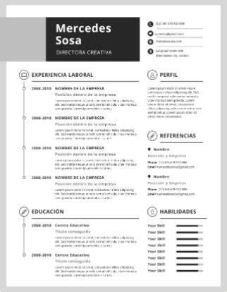 Plantilla De Curriculum Vitae Tradicional plantillas para curriculum gratis en formato word