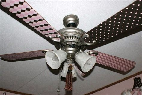 ceiling fans with fabric blades ceiling fan blades decoupage with fabric craft ideas