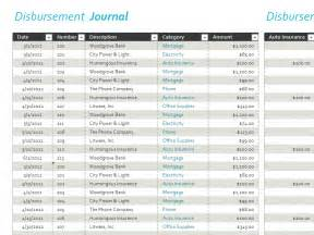 disbursement journal template disbursement journal for microsoft excel