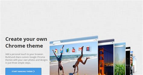 simple way to create your own google chrome theme