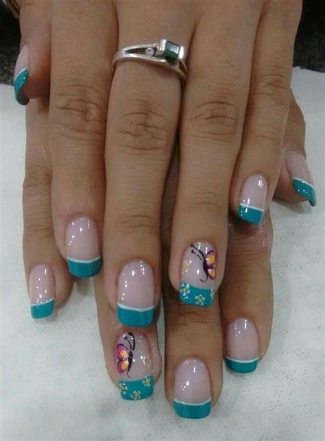 imagenes de uñas decoradas solo con esmalte m 225 s de 1000 ideas sobre u 241 as azules en pinterest u 241 as
