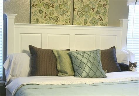 How To Make A Door A Headboard by How To Turn Kitchen Cabinet Doors Into A Headboard Curbly