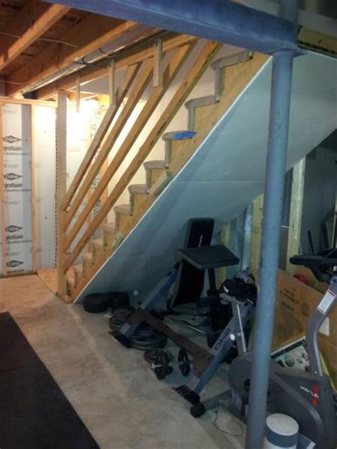 basement stairway wall doityourself community forums
