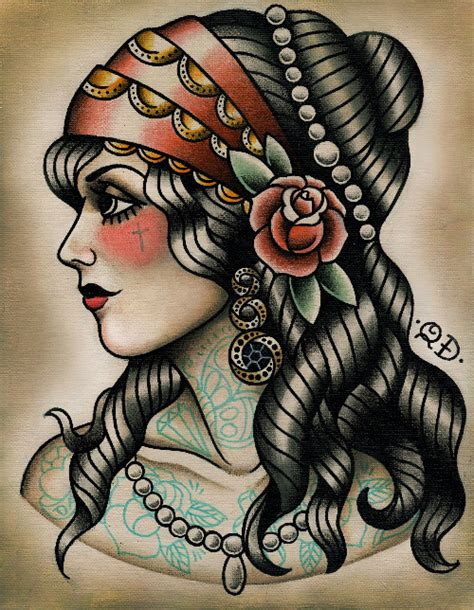 gypsy head tattoo ink it up traditional tattoos with quyen dinh