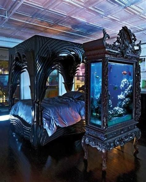 fishtank bedroom gothic bedroom with aquarium ideas
