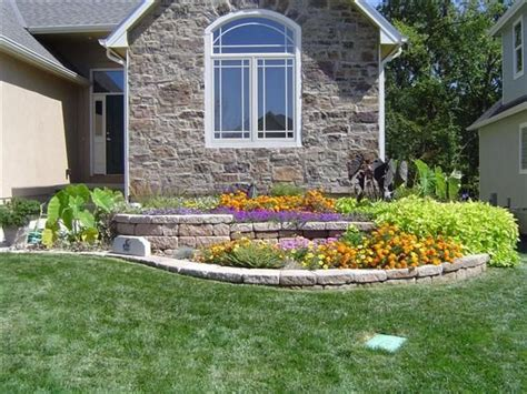 attractive and functional two level retaining wall flower