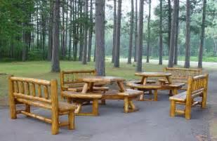 outdoor patio set 171 the log builders
