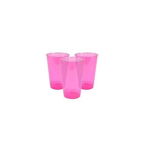 bicchieri plastica trasparente 10 bicchieri plastica trasparente fucsia wimipops
