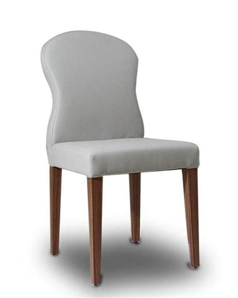 Leather Dining Chairs Contemporary Contemporary Light Grey Eco Leather Dining Chair 44d8968ch