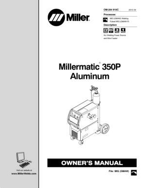 Fillable Online Millermatic 350P Aluminum - millerweldscom