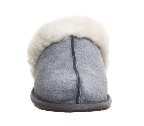 ugg grey slippers ugg scuffette ii slippers in gray grey lyst