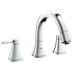 grohe grandera 8 in widespread 2 handle high arc bathroom faucet in polished chrome 20419000 g20418000 grandera 8 widespread bathroom faucet chrome