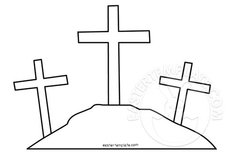 easter cross template printable three crosses template easter template