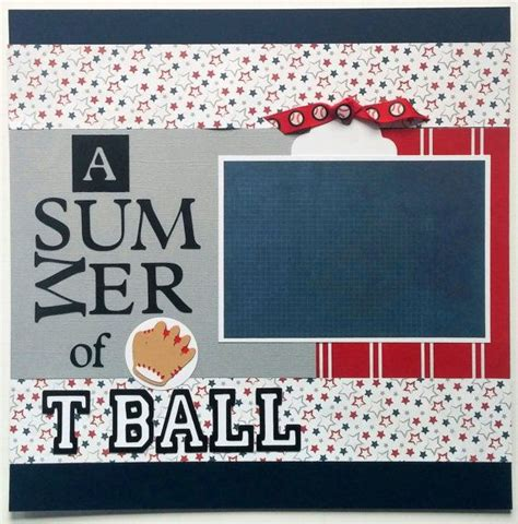 scrapbook layout baseball 17 best images about sports scrapbook layouts on pinterest