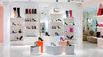 Main Street Modern Furniture by Modern Shoes Store Interior Idea In Cheerful Pastel Colors