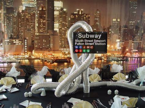 subway centerpieces party unique themes pinterest