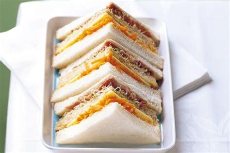 ham and cheese decker sandwich recipe taste com au