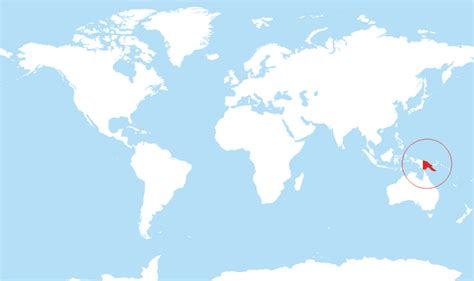 world map papua new guinea where is papua new guinea located on the world map