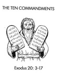 Ten Commandments Stone Tablets Coloring Page Sketch sketch template