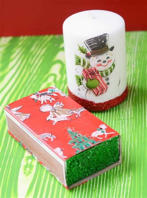 Wrapping Paper Decoupage - diy vintage wrapping paper candles mod podge rocks