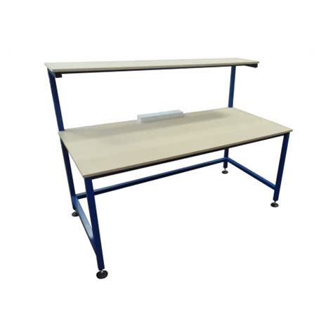 assembly benches assembly bench with upper shelf and 3 x twin electrical