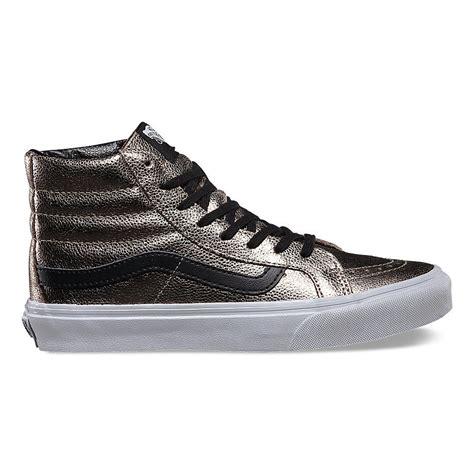 vans metallic vans metallic leather high tops give a gift to yourself